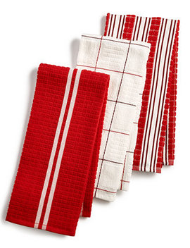 3 Pc. Terry Cloth Kitchen Towels, Created For Macy's by Martha Stewart Collection