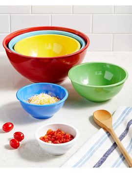 Set Of 6 Melamine Mixing Bowls, Created For Macy's by Martha Stewart Collection