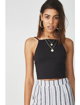 Party High Neck Crop by Cotton On