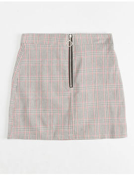 White Fawn Half Zip Plaid Girls Skirt by White Fawn