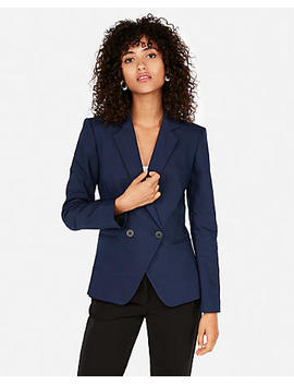 Fitted Double Breasted Blazer by Express