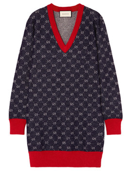 Kleid Aus Jacquard Aus Einer Woll Alpakamischung by Gucci