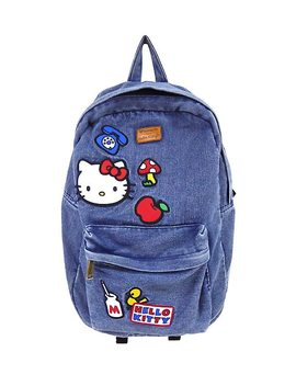 Loungefly Hello Kitty Patches Denim Backpack by Hot Topic