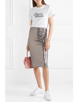 Rue Sequined Chiffon Skirt by Alice + Olivia