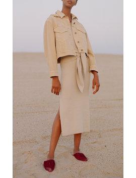 Mame Sleeveless Cotton Blend Dress by Nanushka