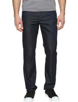 Slim Fit Dark Indigo Denim In Medium Indigo by Perry Ellis