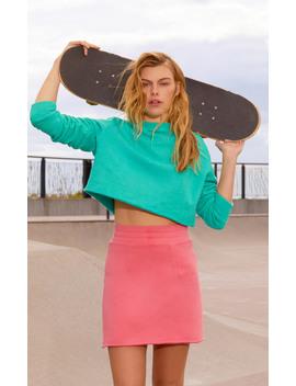 M'o Exclusive Cotton Fleece A Line Skirt by The Elder Statesman
