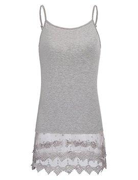 Kate Kasin Sexy Women's Extender Camisole Dress Slip Spaghetti Tank Top Lace Trim by Kate Kasin