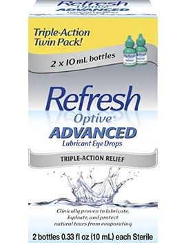 Refresh Optive Advanced Lubricant Eye Drops, 2 Bottles 0.33 Fl Oz (10m L) Each Sterile (20m L) by Refresh