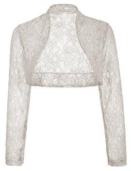 Js Fashion Vintage Dress Women's Long Sleeve Floral Lace Shrug Bolero Cardigan Js49 by Js Fashion Vintage Dress