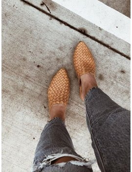 The Paloma Handmade Woven Leather Mule   Tan by Etsy