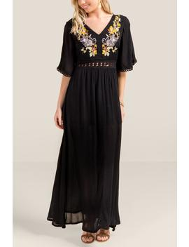 Gianna Embroidered Maxi Dress by Francesca's