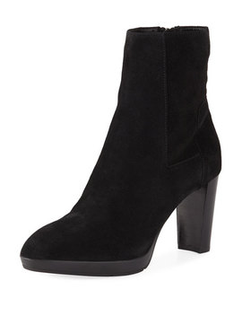 Reagan High Heel Suede Booties by Aquatalia