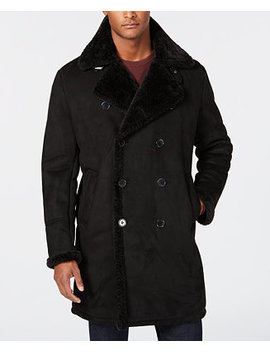 Men's Faux Shearling Overcoat by Guess