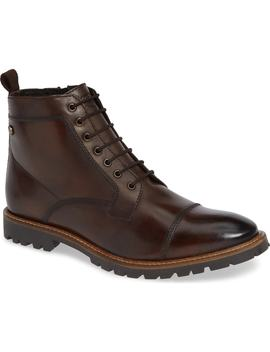 Lugged Cap Toe Boot by Base London