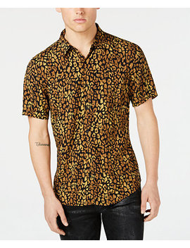 Men's Spotted Leopard Shirt by Guess