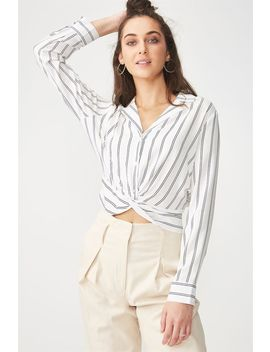 Whitney Twist Front Blouse by Cotton On