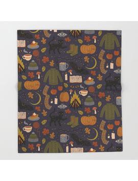 Autumn Nights Throw Blanket by
