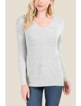 Taryn Braided Back Sweater by Francesca's