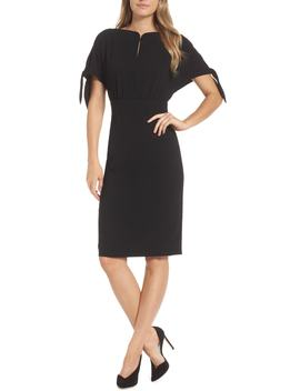 Bow Sleeve Sheath Dress by Harper Rose