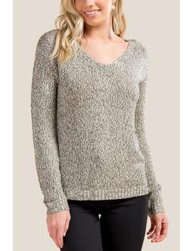Devin Lattice Back Sweater by Francesca's