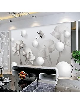 Amazhen Silk Mural Custom Any Size 3 D Mural Wallpaper Background Photography Butterfly Circle Flowers Bathroom Wall Painting For Living Room,208cm146cm by Amazhen
