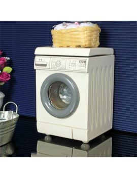 G05 X364 Children Baby Gift Toy 1:12 Dollhouse Mini Furniture Miniature Rement White Washing Machine by Umedolly