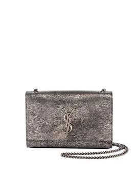 Kate Monogram Ysl Small Metallic Lizard Print Crossbody Bag by Saint Laurent