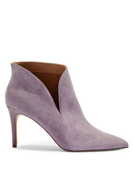 Suede Side Slit Ankle Boots by Topshop
