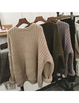 Happo   Plain Chunky Sweater by Happo