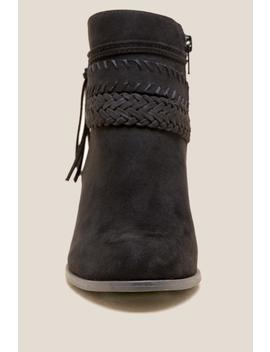 Fergalicious Capital Braided Strap Ankle Boot by Francesca's