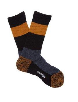 Colour Block Wool Blend Socks by Junya Watanabe