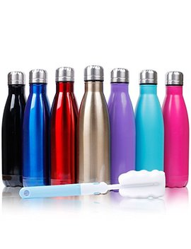 Sfee 17oz Double Wall Vacuum Insulated Stainless Steel Water Bottle Cup   Perfect For Outdoor Sports Camping Hiking Cycling +A Cleaning Brush by Sfee