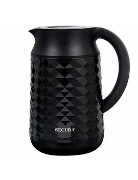 Secura Cool Touch Precise Temperature Control 1.8 Qt (7 Cups) Electric Water Kettle (Black)   1500 W Strix Controls   Float Valve Technology   Quick Boil   8 Pre Sets (Black) by Secura
