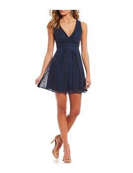 V Neck Lace Mini Dress by Gb