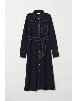 Shirt Dress With A Tie Belt by H&M
