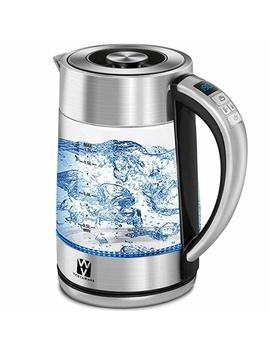 Vestaware Glass Electric Kettle,1.7 L Electric Kettle Led Display/Digital Variable Temperature Control/Keep Warm Function, Hot Water Kettle With Auto Shut Off And Boil Dry Protection by Vesta Ware