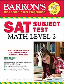 Barron's Sat Subject Test: Math Level 2, 12th Edition by Amazon