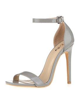 Zri Ey Women's Heeled Sandals Ankle Strap Dress High Heels Stilettos 11 Cm Shoes by Zri Ey