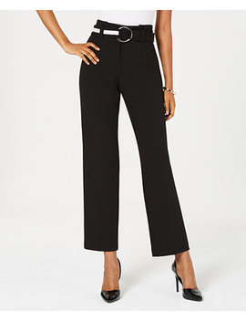 Belted Paper Bag Pants, Created For Macy's by Alfani