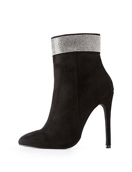 Crystal Ankle Booties by Charlotte Russe