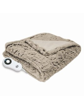 Serta Frosted Faux Fur Electric Heated Throw by Serta