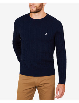 Men's Cable Knit Sweater by Nautica