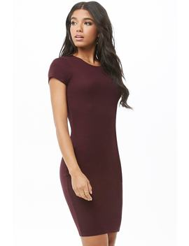 Ribbed Knee Length Dress by Forever 21