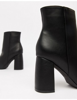 Truffle Collection Curved Heel Ankle Boots by Boots