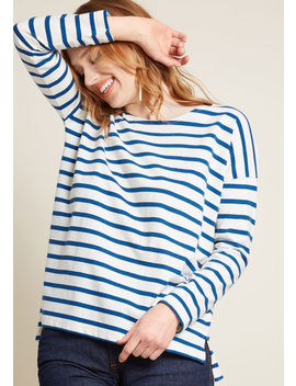 Compania Fantastica Speak In Stripes Long Sleeve Shirt by Compania Fantastica