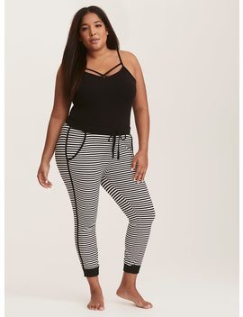 Sleep Striped Cropped Leggings by Torrid