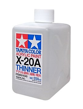 Tamiya 81040 Acrylic Paint Thinner X 20 A 250ml Bottle by Tamiya