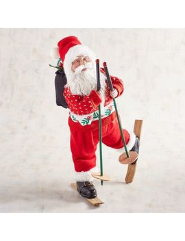 """18"""" Skiing Santa In Red Sweater by Pier1 Imports"""