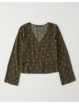 Wrap Front Button Up Blouse by Abercrombie & Fitch